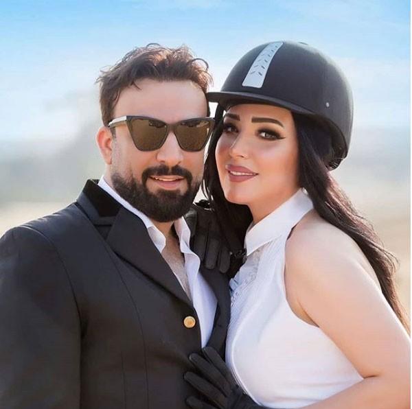 عبير صبري وزوجها