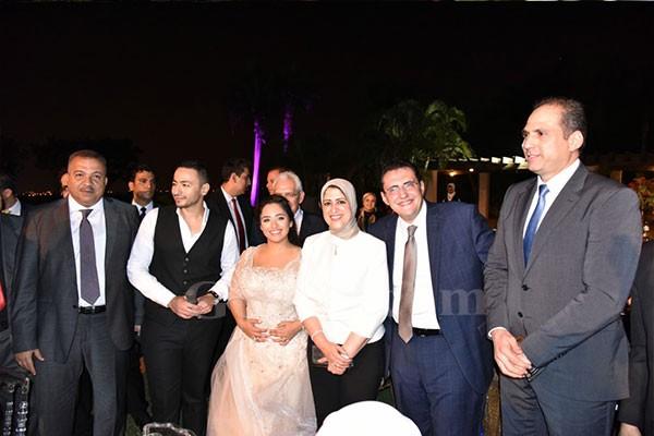 خالد مجاهد وبنان الشريف يحتفلا بخطوبتهم وسط كبار رجال الدولة والاعلاميين والفنانيين