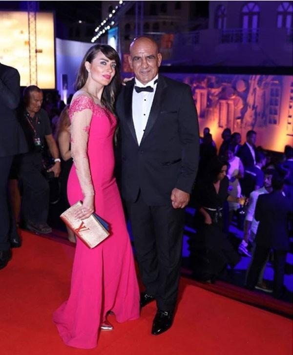 محمد لطفي وزوجته