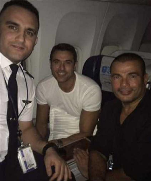 عمرو دياب ودينا الشربيني وعز