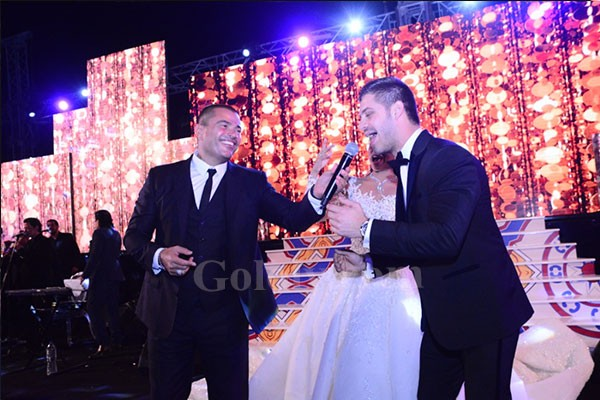 عمرو دياب و رامي عياش يشعلان زفاف نورهان ووليد بحضور نجوم الفن والمشاهير