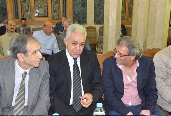 عزاء حمدي قنديل بحضور المشاهير