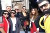 غادة عبدالرازق والنجوم في المسيرة الخضراء