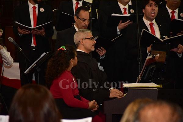 نور اللبنانيه و الهام شاهين و هاله صدقي و شيرين و نجوم الفن يحتفلون بالكريسماس في سان جوزيف