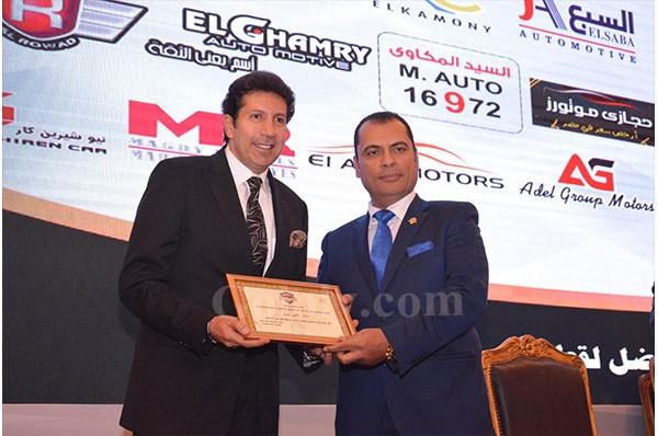 تكريم الفنان هاني رمزي فى المؤتمر السنوى الثالث لرابطة تجار السيارات