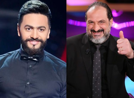 خالد الصاوي يحتفل بعيد ميلاد تامر حسني بطرافة شديدة.. فيديو