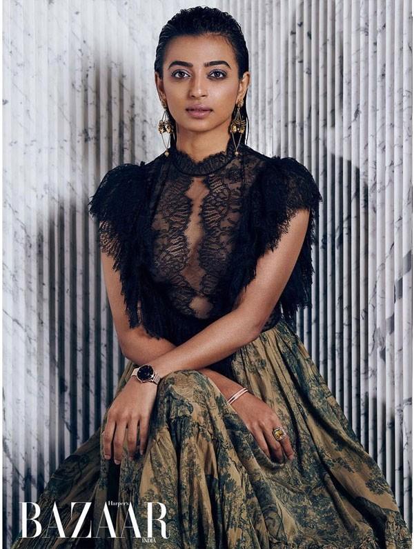 السمراء راديكا أبتي جريئة وجميلة على Harper's Bazaar.. صور