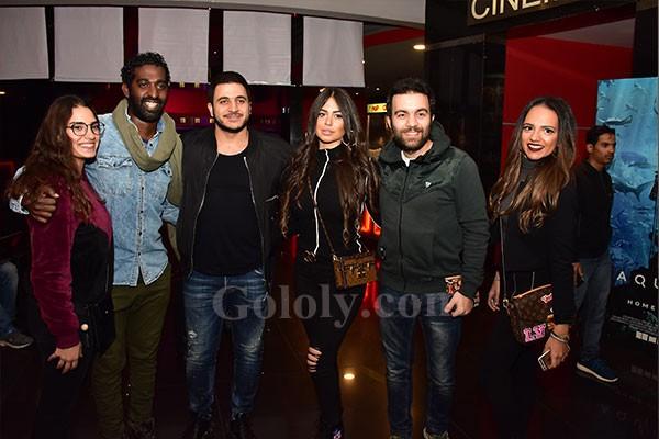 العرض الخاص لفيلم نادي الرجال السري - كريم عبدالعزيز و غادة عادل و بيومي فؤاد