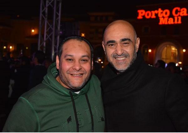 احمد جمال يتألق بحفل عيد الحب في القاهرة الجديدة رغم برودة الجو