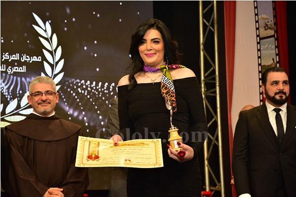 حورية فرغلي أفضل ممثلة واحمد الفيشاوي أفضل ممثل بمهرجان المركز الكاثوليكي