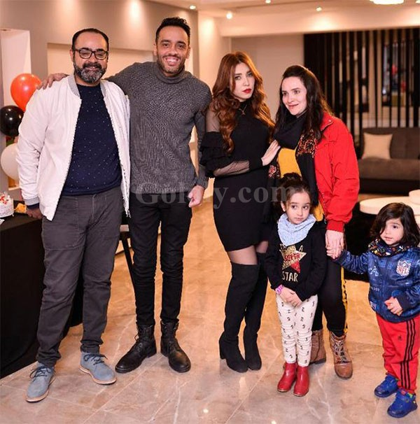 رامي جمال يحتفل بافتتاح المركز التجميلي الخاص بزوجته بحضور نجوم الفن