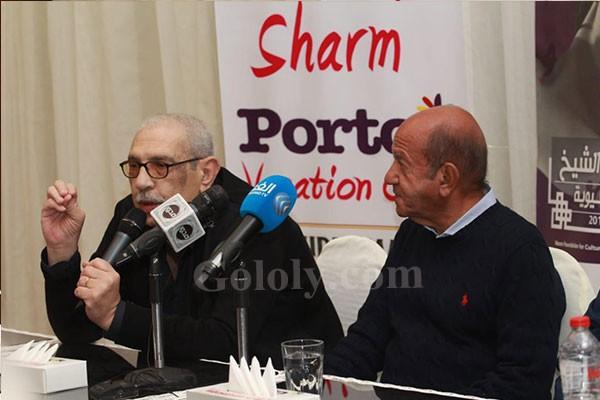 لطفي لبيب سعيد بتكريم في مهرجان شرم الشيخ و المسرح أكثر ما يسعدني