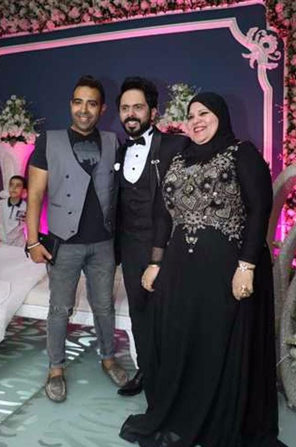 ياسر عدوية يحتفل بعقد قرانه بحضور خاله احمد عدوية
