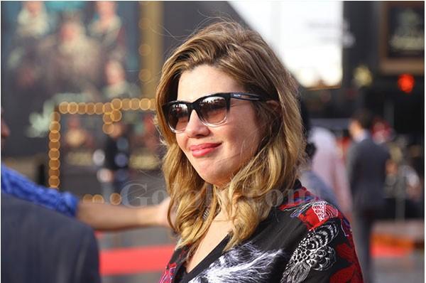 رانيا فريد شوقي و ريهام عبدالغفور ومجدي الهوار اول حضور المؤتمر الصحفي للملك لير