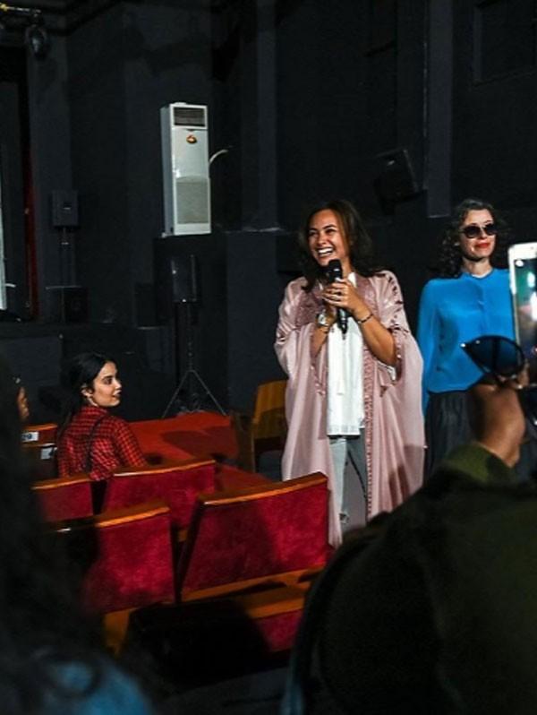 بشرى و هند صبري و الهام شاهين في مهرجان قابس