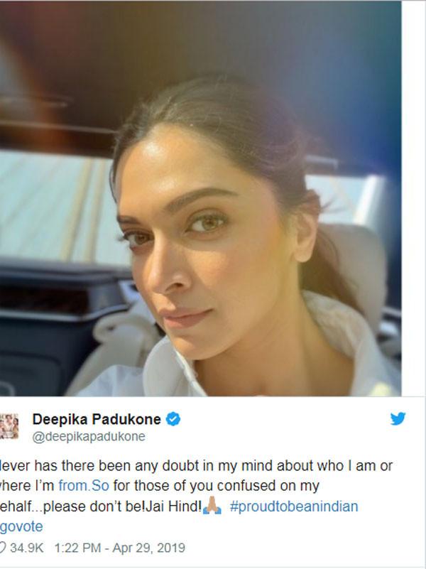 ديبيكا بادوكون تكشف عن جنسيتها الحقيقية