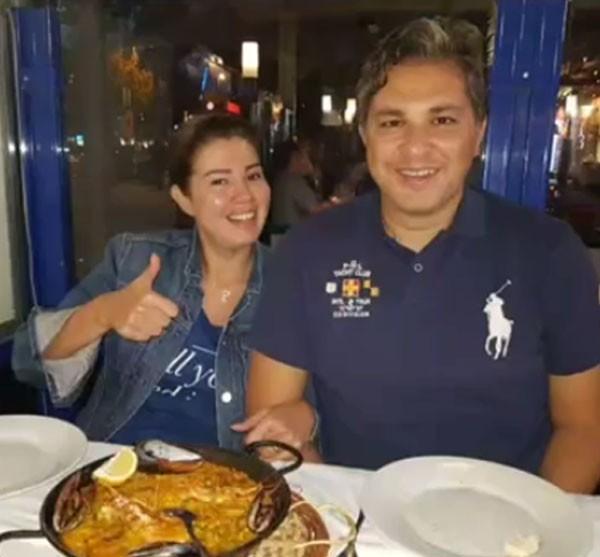 رانيا فريد شوقي تحتفل بعيد ميلاد زوجها