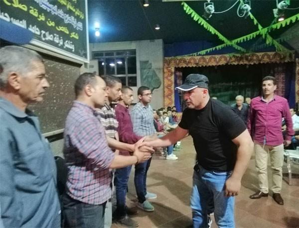 احمد السقا في عزاء محمد ابو الوفا