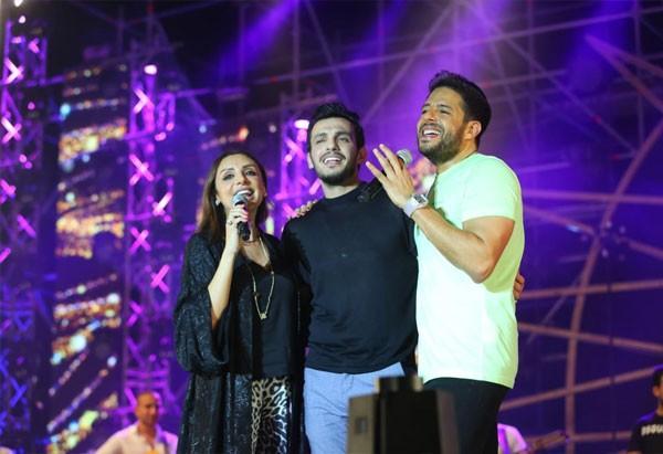 محمد حماقي وانغام وزوجها