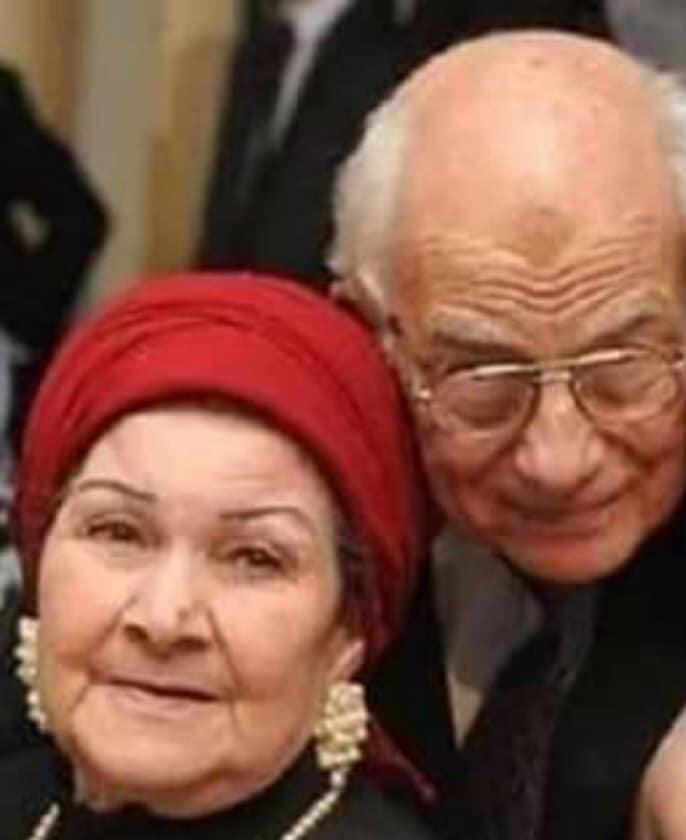 رشوان توفيق وزوجته