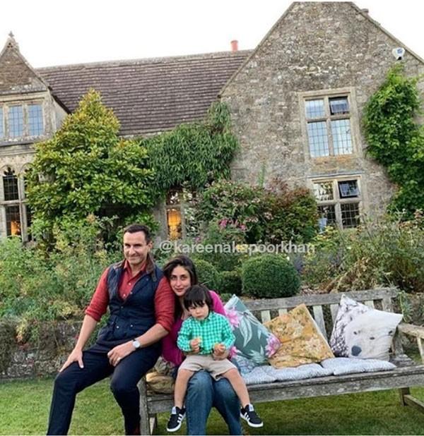 شاهد الصور: سيف علي خان يحتفل بعيد ميلاده مع كارينا وتيمور في لندن