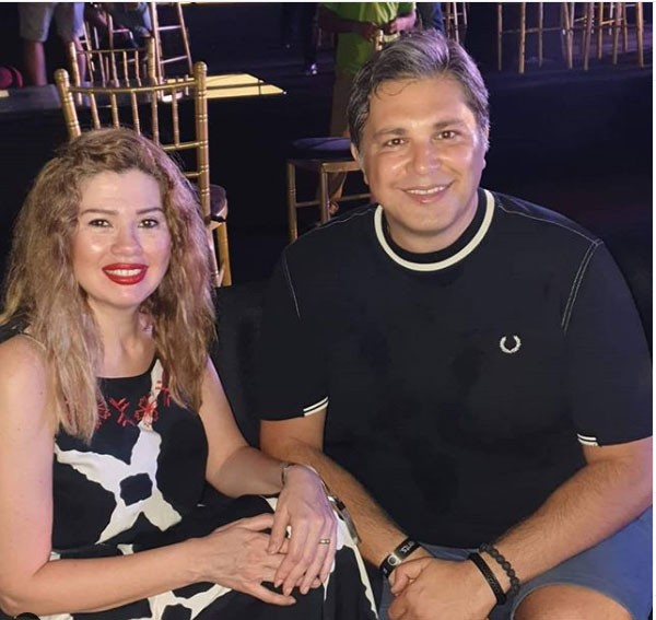 رانيا فريد شوقي وزوجها