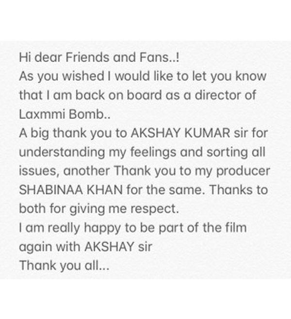 أكشاي كومار يصدم جمهوره بعد إطلالته الأولى من Laxmmi Bomb