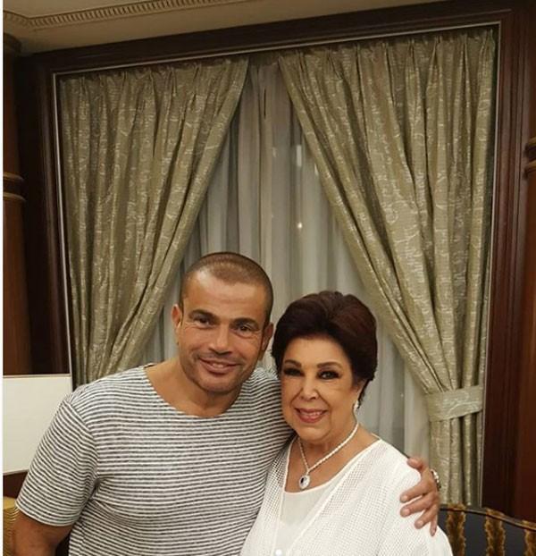 رجاء الجداوي و عمرو دياب و دينا الشربيني