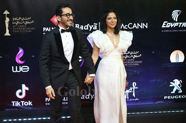 منى زكي و احمد حلمي - مهرجان القاهرة السينمائي