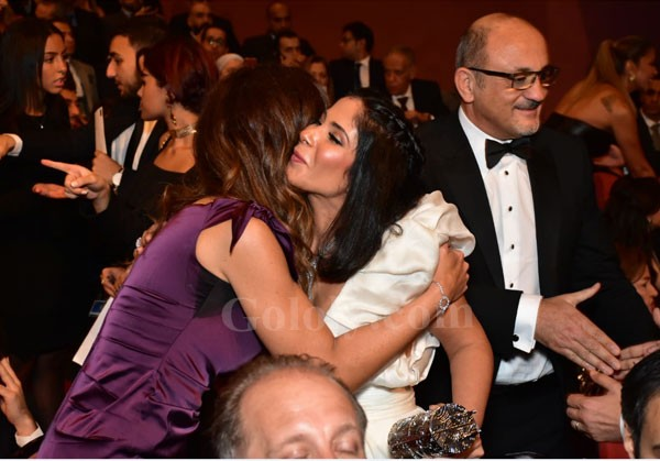 منى زكي و احمد حلمي و منة شلبي والنجوم في مهرجان القاهرة السينمائي