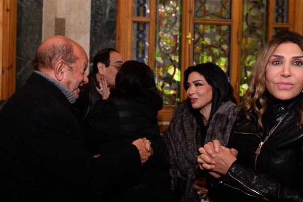 عزاء المخرج محسن حلمي زوج سلوى محمد علي
