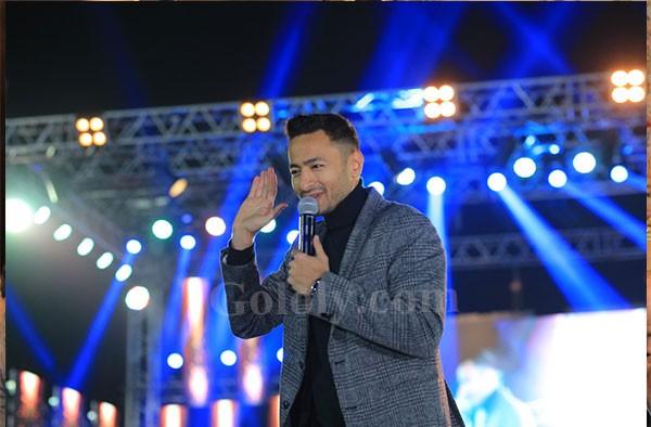 حمادة هلال يتألق في حفل نادي بروسيا دورتموند وسط الالاف من محبيه - حماده هلال
