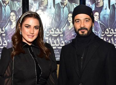 خالد النبوي والنجوم في العرض الخاص لفيلم «يوم وليلة».. صور