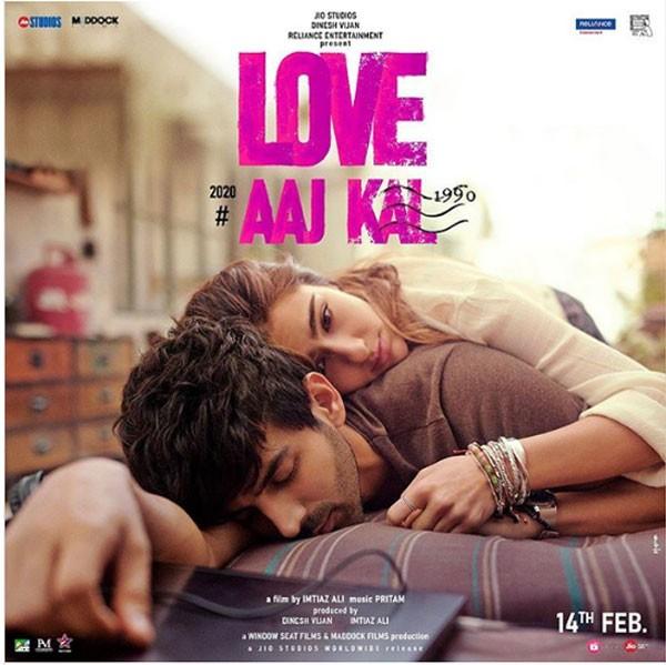 أول بوستر لفيلم Aaj Kal بطولة سارة علي خان وكارتيك آريان
