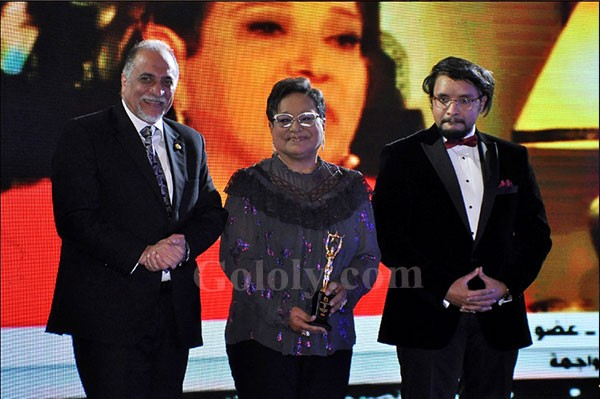 تكريم احمد السقا و مها الصغير و نسرين طافش في مؤتمر التميز والجودة