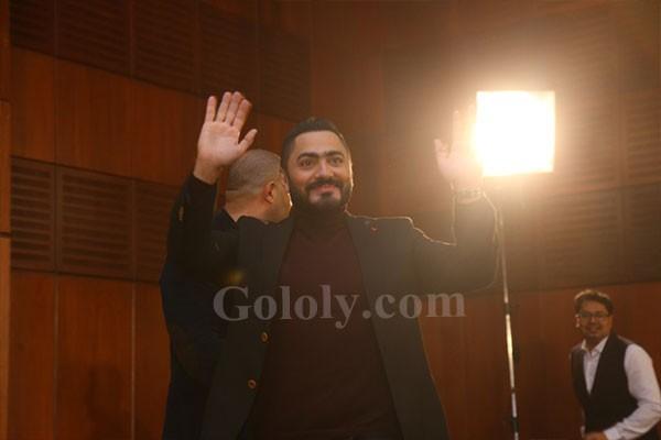 حفل تكريم تامر حسني من جريدة الأهرام