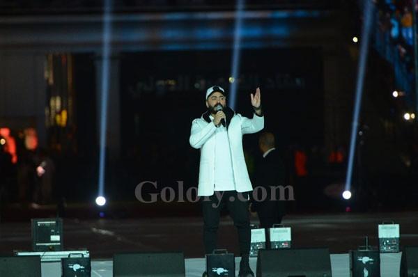 حفل عيد الحب باستاد القاهرهتامر حسني و بهاء سلطان