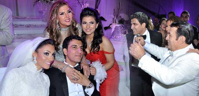 نادية مصطفى - اركان فؤاد - حفل زفاف ابنة نادية مصطفى