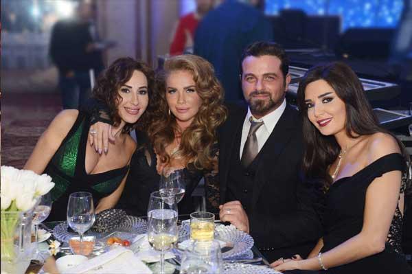 سيرين عبد النور في حفل زفاف ابنة صادق الصباح