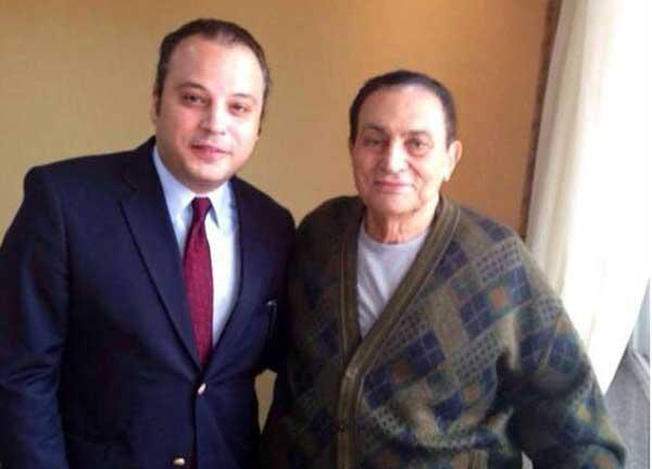 تامر عبد المنعم مع حسني مبارك