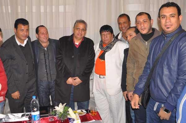 شعبان عبد الرحيم في اول ظهور بعد وفاة زوجته