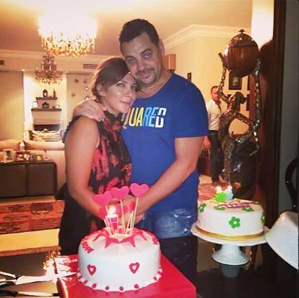 اصالة تحتفل بعيد ميلاد طارق العريان