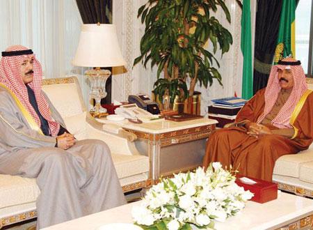 نواف الأحمد يودع السفير الأردني