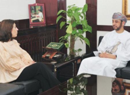 الراشدي يستقبل مديرة معهد العالم العربي بباريس