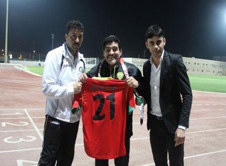 دييجو مارادونا: زيارة فلسطين وسام على صدري