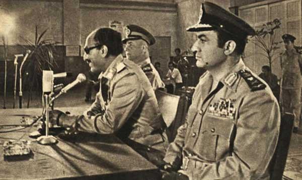 محمد حسني مبارك ومحمد انور السادات