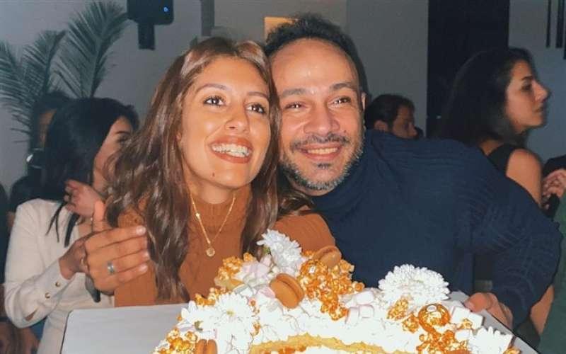 محمد عطية وخطيبته ميرنا الهلباوي