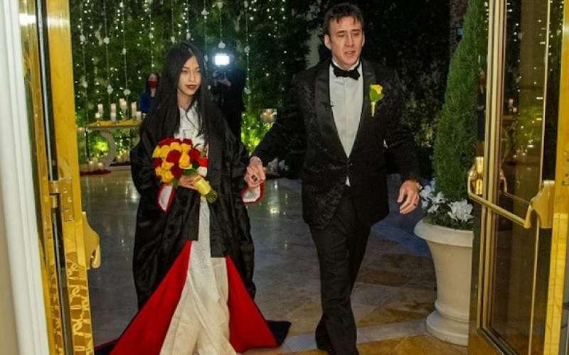 نيكولاس كيدج وزوجته ريكو