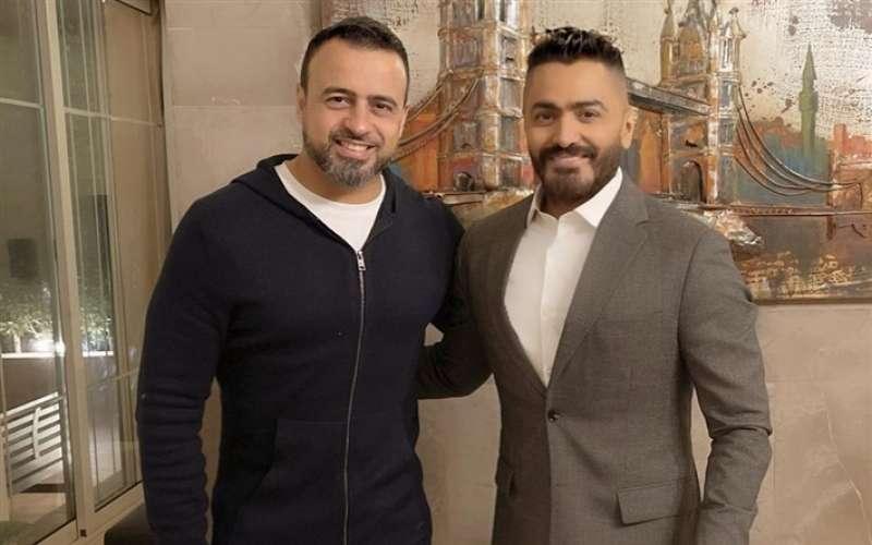 مصطفى حسني وتامر حسني
